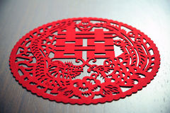 Chinesischer Hochzeitsdekorationsabschluß oben Lizenzfreies Stockbild