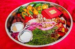 Chinesischer Hochzeitsdekorationsabschluß oben Stockfoto