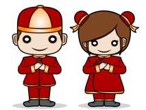 Chinesischer Junge und Mädchen Stockbilder