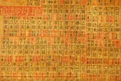 Chinesischer Kalligraphiehintergrund Lizenzfreies Stockfoto