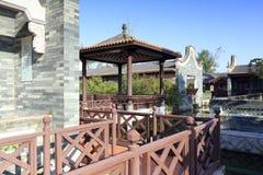 Chinesischer klassischer baiyunju Landschaftsgarten, luftgetrockneter Ziegelstein rgb Stockfotos