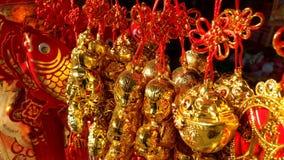Chinesischer Knoten im Markt für chinesisches Festival des neuen Jahres Lizenzfreies Stockfoto