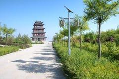Chinesischer Kontrollturm stockfoto