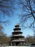 Chinesischer Kontrollturm, München Lizenzfreies Stockbild
