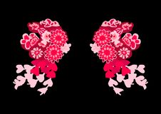 Chinesischer Kopfschmuck, wie zwei Lämmer stock abbildung