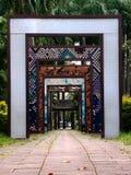 Chinesischer Korridor der Weinlese in der Farbe Lizenzfreies Stockbild