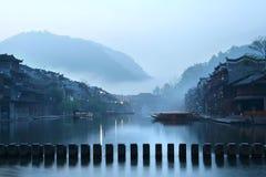 Chinesischer Landschaftslack Stockfoto