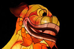 Chinesischer Laternenfestivalhund Stockfoto