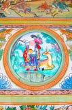 Chinesischer Mönch im Wald und in den Rotwild Stockbild