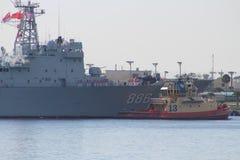 Chinesischer Marine-Goodwill-Ausflug Stockfotos