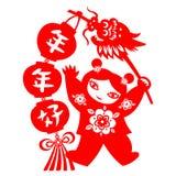 Chinesischer neues Jahr-Drache Stockfoto