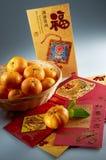 Chinesischer neues Jahr-Gruß Stockfotografie