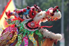 Chinesischer neues Jahr-Parade-Drache Stockbild