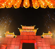 Chinesischer neues Jahr-Tempel angemessen in Chengdu Stockfotos