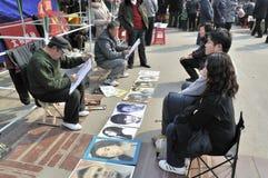Chinesischer neues Jahr-Tempel angemessen in Wuhan Stockfotografie