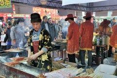 Chinesischer neues Jahr-Tempel angemessen in Wuhan Stockbild