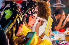 Chinesischer Operenschauspielerin stockfoto