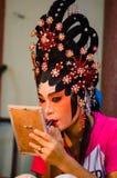 Chinesischer Operenschauspielerin stockbild