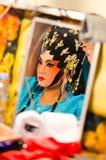 Chinesischer Operenschauspielerin stockfotografie