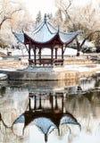 Chinesischer Pavillion im Winter Lizenzfreie Stockbilder