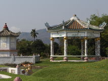 Chinesischer Pavillon am Friedhof Lizenzfreie Stockfotografie