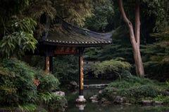 Chinesischer Pavillon im botanischen Garten stockfotos
