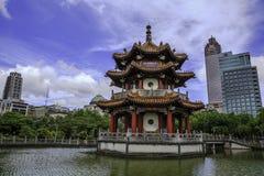 Chinesischer Pavillon in Memorial Park, Taiwan Stockbilder