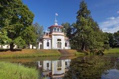 Chinesischer Pavillon in Tsarskoye Selo (Pushkin), St Petersburg Lizenzfreie Stockfotos