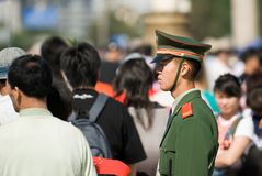 Chinesischer Polizist Stockfotografie