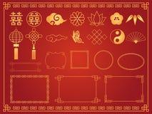 Chinesischer Rahmen set2 lizenzfreie abbildung