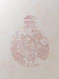 Chinesischer Retrostil-Vasen-Hintergrund Stockfotografie