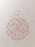 Chinesischer Retrostil-Vasen-Hintergrund Stockfotos