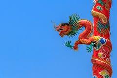 Chinesischer roter Drache Stockbild