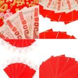 Chinesischer roter Umschlag Stockfotos