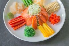 Chinesischer Salat der rohen Fische, ein Eingeborener von China Stockbilder