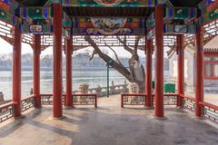 Chinesischer Seeufer Pavillion Lizenzfreie Stockfotos