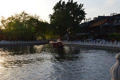 Chinesischer Sonnenuntergang lizenzfreie stockbilder