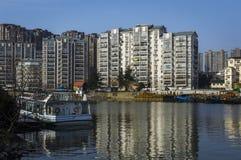 Chinesischer Stadt-Hafen stockbilder