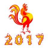 Chinesischer Symbol Hahnvogel 2017 stockfoto