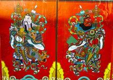 Chinesischer Tür-Gott Stockfoto