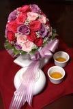 Chinesischer Tee auf Hochzeits-Zeremonie Stockfotografie