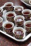 Chinesischer Tee am Tempel lizenzfreie stockbilder