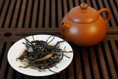 Chinesischer Tee und Teekanne Lizenzfreies Stockbild