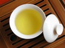 Chinesischer Tee und Teeset Lizenzfreies Stockfoto