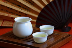 Chinesischer Tee und Teeset Lizenzfreies Stockbild