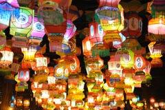 Chinesischer Tempel des neuen Jahr-2011 angemessen in Chengdu Stockfotos