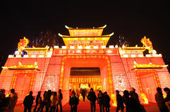 Chinesischer Tempel des neuen Jahr-2011 angemessen in Chengdu Lizenzfreie Stockbilder