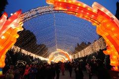 Chinesischer Tempel des neuen Jahr-2011 angemessen in Chengdu Lizenzfreies Stockbild