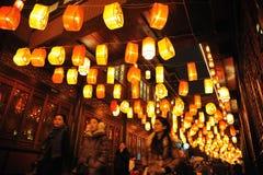 Chinesischer Tempel des neuen Jahr-2012 angemessen in Chengdu Stockfotos