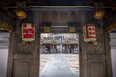 Chinesischer Tempel-Eingang in Singapur lizenzfreie stockfotos
